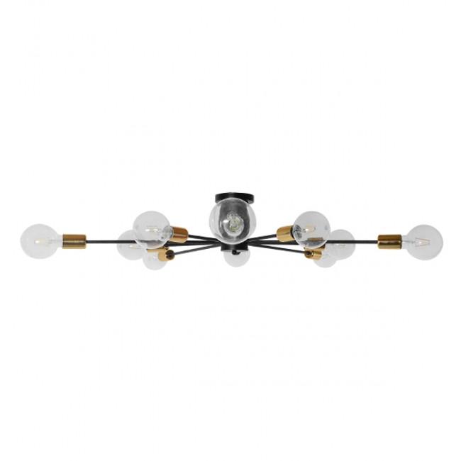 Μοντέρνο Industrial Φωτιστικό Οροφής Πολύφωτο Μαύρο Μεταλλικό Φ122 GloboStar OLINDA 01244 - 3