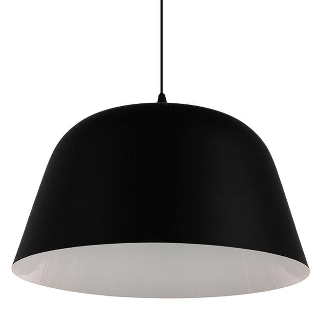 Μοντέρνο Κρεμαστό Φωτιστικό Οροφής Μονόφωτο Μαύρο Μεταλλικό Καμπάνα Φ40  EASTVALE 01281 - 4
