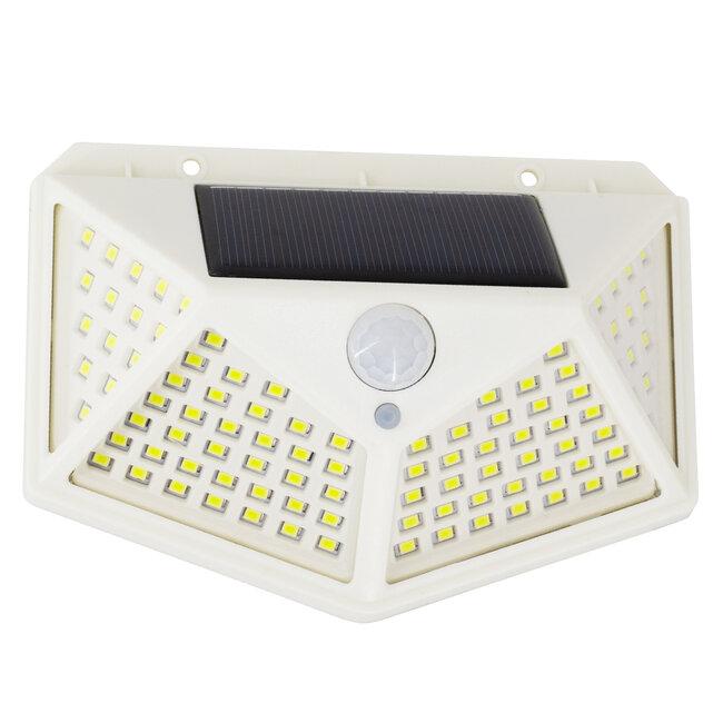 71498 Αυτόνομο Ηλιακό Φωτιστικό LED SMD 10W 1000lm με Ενσωματωμένη Μπαταρία 1200mAh - Φωτοβολταϊκό Πάνελ με Αισθητήρα Ημέρας-Νύχτας και PIR Αισθητήρα Κίνησης IP65 Ψυχρό Λευκό 6000K - 2