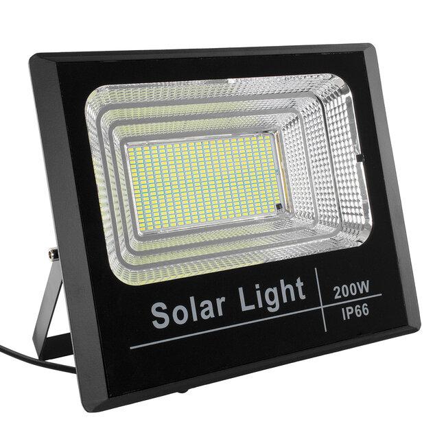 GloboStar® 71558 Αυτόνομος Ηλιακός Προβολέας LED SMD 200W 16000lm με Ενσωματωμένη Μπαταρία 20000mAh - Φωτοβολταϊκό Πάνελ με Αισθητήρα Ημέρας-Νύχτας και Ασύρματο Χειριστήριο RF 2.4Ghz Αδιάβροχος IP66 Ψυχρό Λευκό 6000K - 3