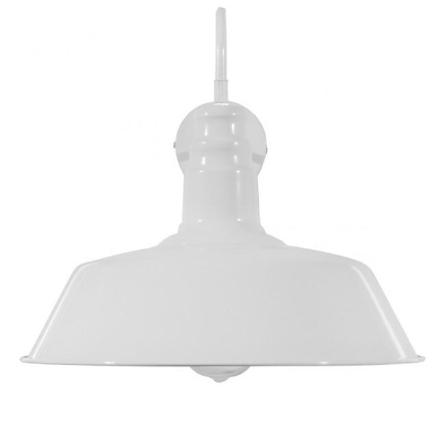 Vintage Industrial Φωτιστικό Τοίχου Απλίκα Μονόφωτο Λευκό Μεταλλικό Καμπάνα Φ36 GloboStar SORD WHITE 01051 - 3