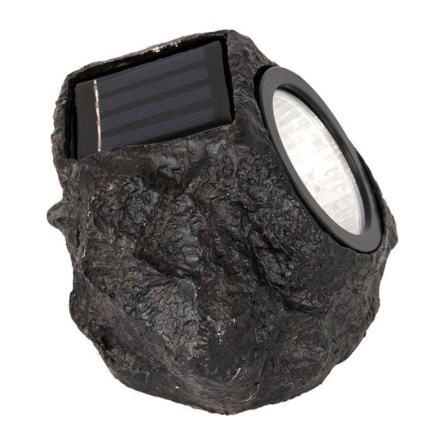 71484 Αυτόνομο Ηλιακό Φωτιστικό LED SMD 1W 100lm με Ενσωματωμένη Μπαταρία 600mAh - Φωτοβολταϊκό Πάνελ με Αισθητήρα Ημέρας-Νύχτας Αδιάβροχο IP65 Διακοσμητική Πέτρα - Βράχος Κήπου Ψυχρό Λευκό 6000K - 3