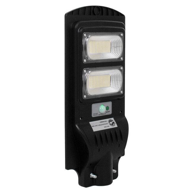 GloboStar® 71551 Αυτόνομο Ηλιακό Φωτιστικό Δρόμου Street Light All In One LED SMD 100W 8000lm με Ενσωματωμένη Μπαταρία Li-ion 5500mAh - Φωτοβολταϊκό Πάνελ με Αισθητήρα Ημέρας-Νύχτας PIR Αισθητήρα Κίνησης και Ασύρματο Χειριστήριο RF 2.4Ghz Αδιάβροχο I - 6