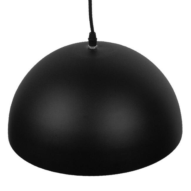 Μοντέρνο Κρεμαστό Φωτιστικό Οροφής Μονόφωτο Μαύρο Μεταλλικό Καμπάνα Φ30  CHIME BLACK 01004 - 3