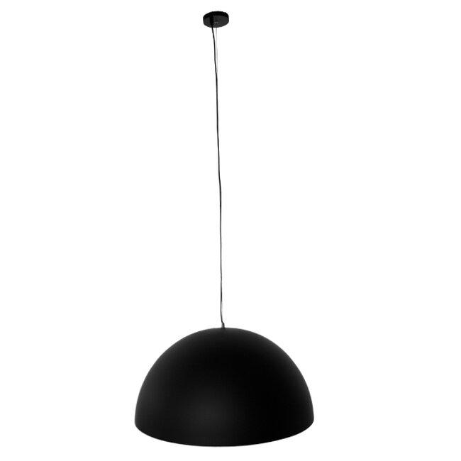 Μοντέρνο Κρεμαστό Φωτιστικό Οροφής Μονόφωτο Μαύρο Χρυσό Μεταλλικό Καμπάνα Φ60  DIADEMA 01342 - 2