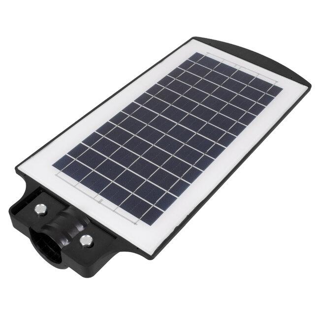 GloboStar® 71551 Αυτόνομο Ηλιακό Φωτιστικό Δρόμου Street Light All In One LED SMD 100W 8000lm με Ενσωματωμένη Μπαταρία Li-ion 5500mAh - Φωτοβολταϊκό Πάνελ με Αισθητήρα Ημέρας-Νύχτας PIR Αισθητήρα Κίνησης και Ασύρματο Χειριστήριο RF 2.4Ghz Αδιάβροχο I - 8