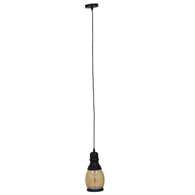 Vintage Κρεμαστό Φωτιστικό Οροφής Μονόφωτο Γυάλινο Μελί Διάφανο Φ14  JACK 01507 - 3