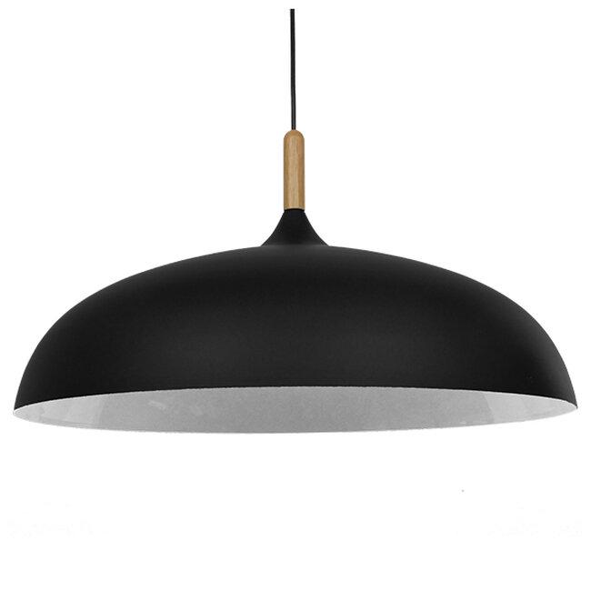 Μοντέρνο Κρεμαστό Φωτιστικό Οροφής Μονόφωτο Μαύρο Μεταλλικό Καμπάνα Φ60  VALLETE BLACK 01259 - 5
