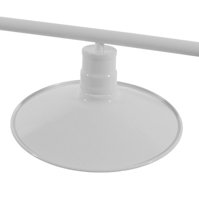 Vintage Industrial Φωτιστικό Οροφής Τρίφωτο Λευκό Μεταλλικό Ράγα GloboStar BILLIARD WHITE 01010 - 7