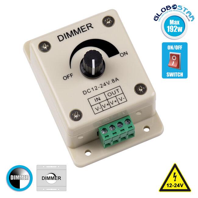 73315 LED Dimmer Εξωτερικό με Ποτενσιόμετρο 12-24V Max 192W