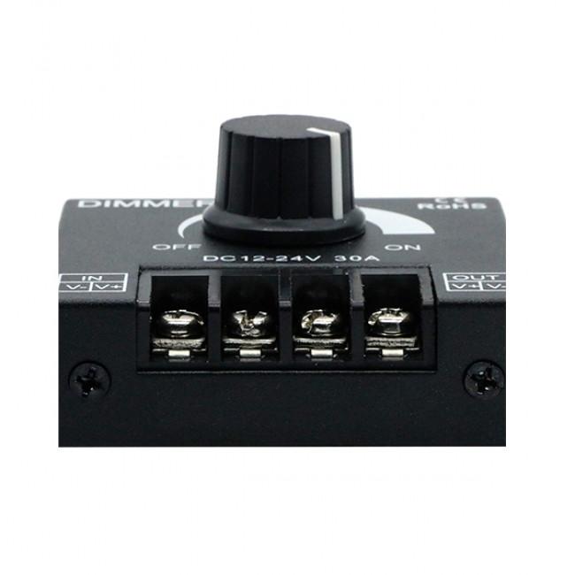 Εξωτερικό Dimmer Knob 12-24 Volt 30 Ampere 360/720 Watt GloboStar 50041 - 8