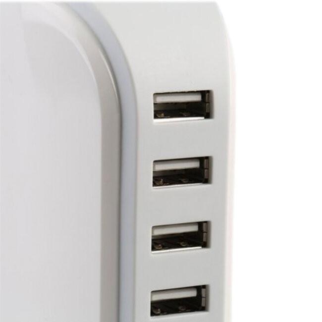 Επιτραπέζιος Φορτιστής USB 5 Θέσεων 6A 30 Watt 5V DC Λευκός GloboStar 69999 - 6