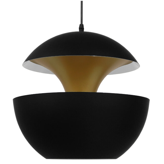 Μοντέρνο Κρεμαστό Φωτιστικό Οροφής Μονόφωτο Μαύρο Μεταλλικό Φ35  SEVILLE BLACK 01269 - 6