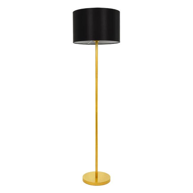 ASHLEY 00825 Μοντέρνο Φωτιστικό Δαπέδου Μονόφωτο Μεταλλικό Χρυσό με Μαύρο Καπέλο Φ40 x Υ148cm - 2