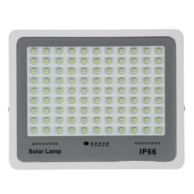GloboStar® 71561 Αυτόνομος Ηλιακός Προβολέας LED SMD 200W 24000lm με Ενσωματωμένη Μπαταρία 20000mAh - Φωτοβολταϊκό Πάνελ με Αισθητήρα Ημέρας-Νύχτας και Ασύρματο Χειριστήριο RF 2.4Ghz Αδιάβροχος IP66 Ψυχρό Λευκό 6000K - 5