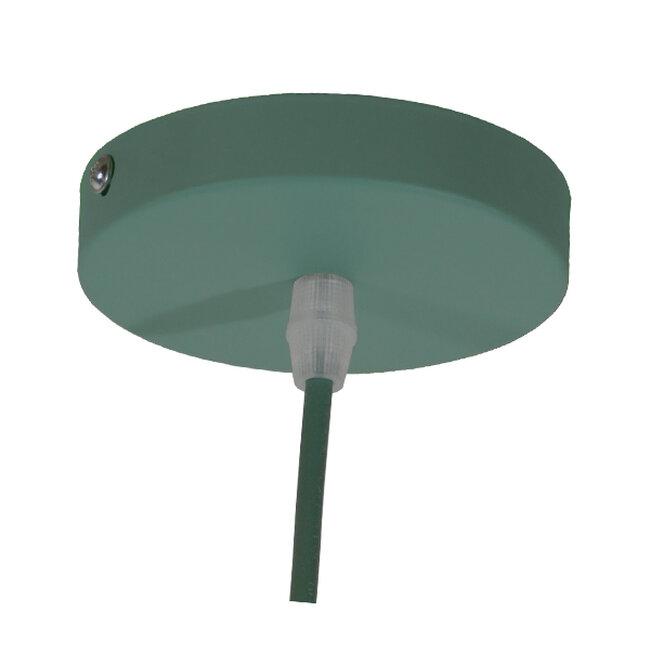 Μοντέρνο Κρεμαστό Φωτιστικό Οροφής Μονόφωτο Γκρι Πράσινο Μεταλλικό Καμπάνα Φ40  UPVALE 01285 - 8
