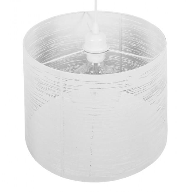Μοντέρνο Industrial Κρεμαστό Φωτιστικό Οροφής Μονόφωτο Μεταλλικό Λευκό Καμπάνα Φ35  ACCADEMIA 01557 - 5