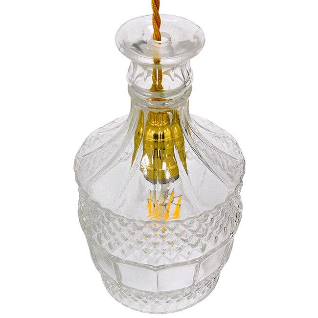 Vintage Κρεμαστό Φωτιστικό Οροφής Μονόφωτο Γυάλινο Διάφανο Φ13  WHISKEY 01513 - 4