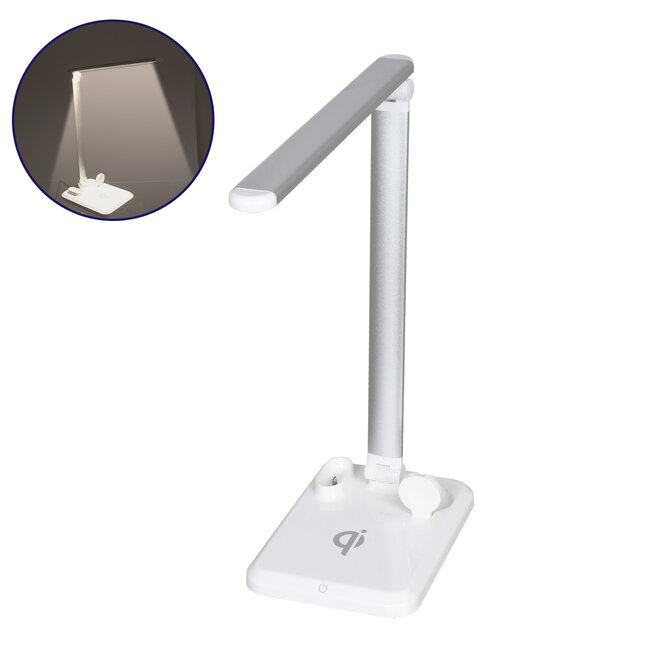 86101 CHATEAU Μοντέρνο Φωτιστικό Γραφείου Λευκό LED 10 Watt 1000lm DC 5V Αφής & Καλώδιο Τροφοδοσίας USB με Ασύρματη Φόρτιση - Wireless Charger για Τηλέφωνα και Earphones Φυσικό Λευκό 4500K - 2