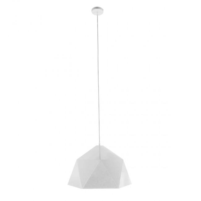 Μοντέρνο Κρεμαστό Φωτιστικό Οροφής Μονόφωτο Λευκό Χρυσό Μεταλλικό Καμπάνα Φ46 GloboStar CHILUM 01378 - 2