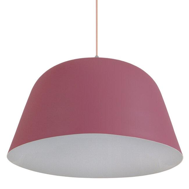 Μοντέρνο Κρεμαστό Φωτιστικό Οροφής Μονόφωτο Ροζ Μεταλλικό Καμπάνα Φ40  SOUTHVALE 01284 - 4