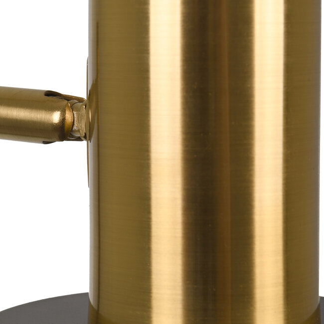 LETO 00835 Μοντέρνο Επιτραπέζιο Φωτιστικό Γραφείου Μονόφωτο Μεταλλικό Μαύρο Χρυσό Φ12.5 x Μ18 x Π18 x Υ50.5cm - 7