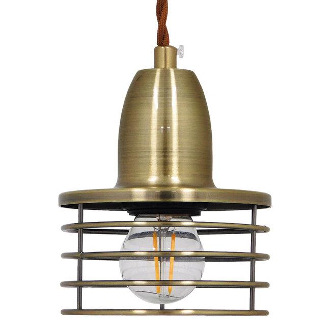 Μοντέρνο Industrial Κρεμαστό Φωτιστικό Οροφής Μονόφωτο Μεταλλικό Μπρούτζινο Καμπάνα Φ11  MANHATTAN BRONZE 01455 - 5