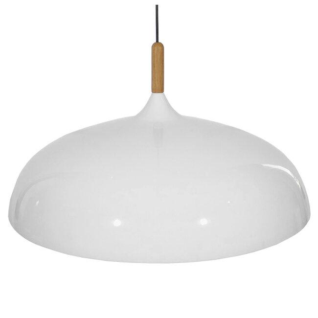 Μοντέρνο Κρεμαστό Φωτιστικό Οροφής Μονόφωτο Λευκό Μεταλλικό Καμπάνα Φ60  VALLETE WHITE 01257 - 4