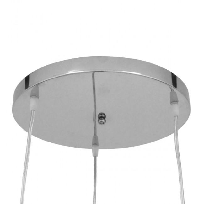 Μοντέρνο Κρεμαστό Φωτιστικό Οροφής Τρίφωτο Χρυσό Μεταλλικό με Κρύσταλλα Φ50 GloboStar MARGARITA 01670 - 7