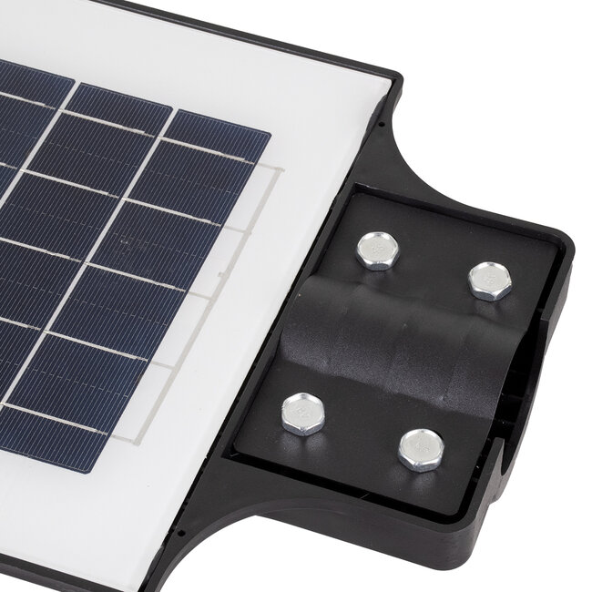 GloboStar® 71553 Αυτόνομο Ηλιακό Φωτιστικό Δρόμου Street Light All In One LED SMD 200W 16000lm με Ενσωματωμένη Μπαταρία Li-ion 12000mAh - Φωτοβολταϊκό Πάνελ με Αισθητήρα Ημέρας-Νύχτας PIR Αισθητήρα Κίνησης και Ασύρματο Χειριστήριο RF 2.4Ghz Αδιάβροχο - 11
