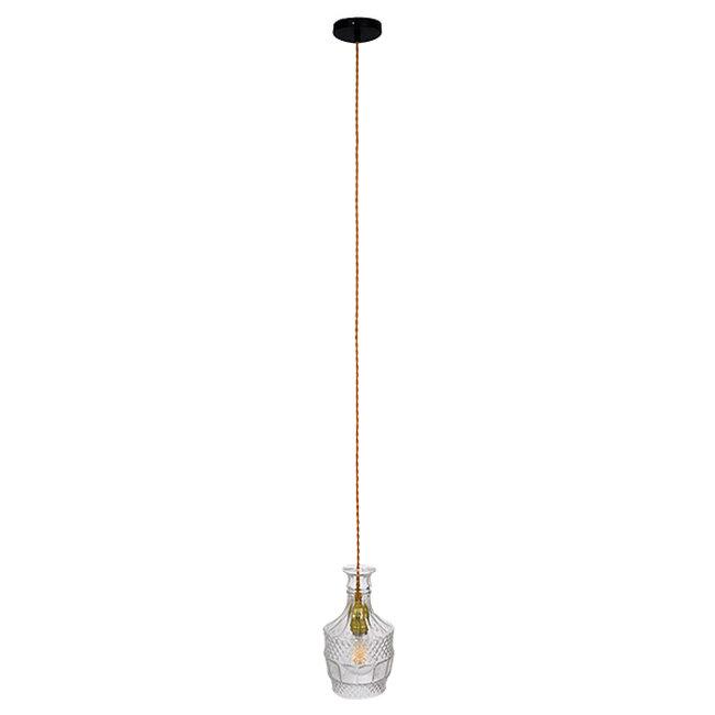 Vintage Κρεμαστό Φωτιστικό Οροφής Μονόφωτο Γυάλινο Διάφανο Φ13  WHISKEY 01513 - 3
