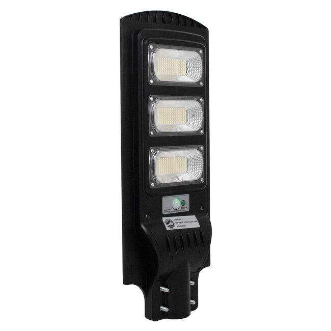 GloboStar® 71552 Αυτόνομο Ηλιακό Φωτιστικό Δρόμου Street Light All In One LED SMD 150W 12000lm με Ενσωματωμένη Μπαταρία Li-ion 9000mAh - Φωτοβολταϊκό Πάνελ με Αισθητήρα Ημέρας-Νύχτας PIR Αισθητήρα Κίνησης και Ασύρματο Χειριστήριο RF 2.4Ghz Αδιάβροχο - 6