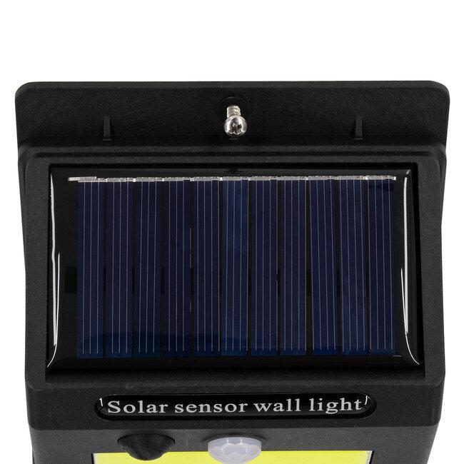71496 Αυτόνομο Ηλιακό Φωτιστικό LED COB 12W 1200lm με Ενσωματωμένη Μπαταρία 1200mAh - Φωτοβολταϊκό Πάνελ με Αισθητήρα Ημέρας-Νύχτας και PIR Αισθητήρα Κίνησης IP65 Ψυχρό Λευκό 6000K - 9