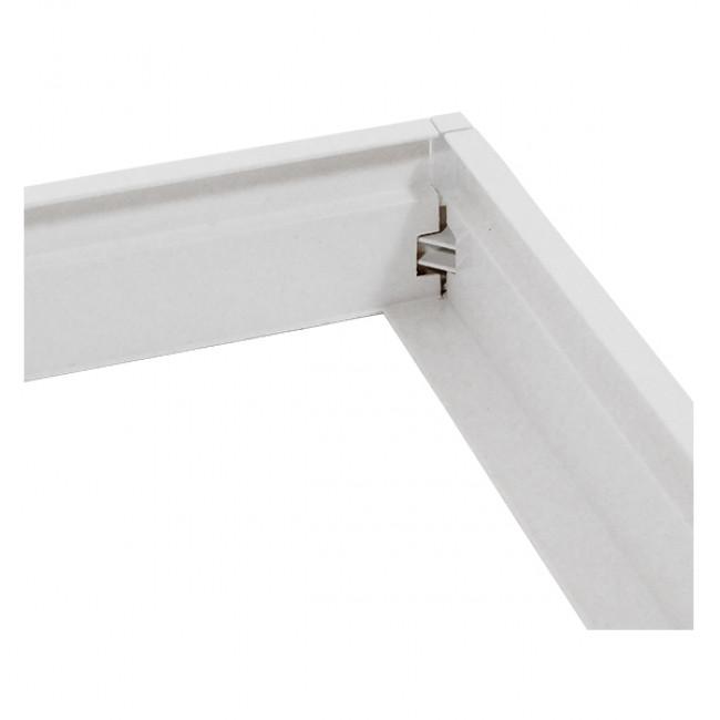 Πλαίσιο Στήριξης PVC Επιτοίχιας Τοποθέτησης για LED Πάνελ 60x60 Λευκό GloboStar 01816 - 5