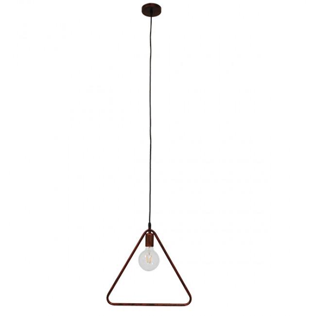 Μοντέρνο Κρεμαστό Φωτιστικό Οροφής Μονόφωτο Καφέ Σκουριά Μεταλλικό  DELTA IRON RUST 01581 - 2