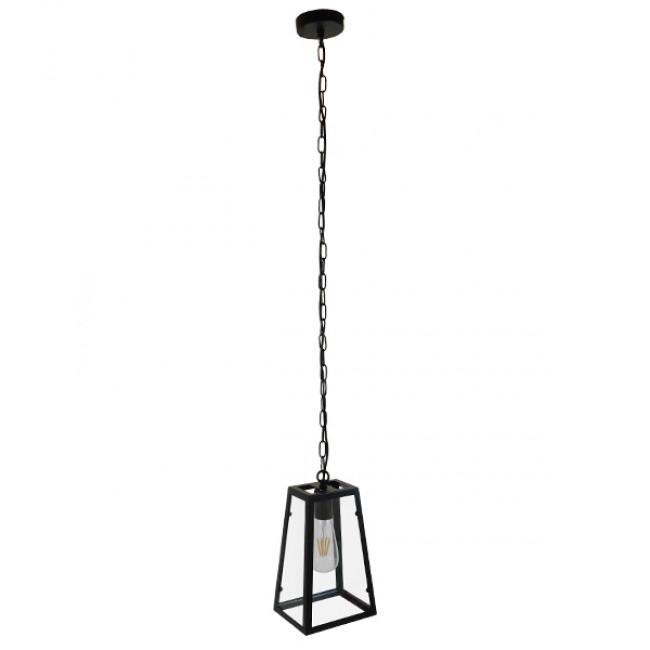 Vintage Industrial Κρεμαστό Φωτιστικό Οροφής Μονόφωτο Μαύρο Μεταλλικό Πλέγμα GloboStar LIMA 01040 - 2