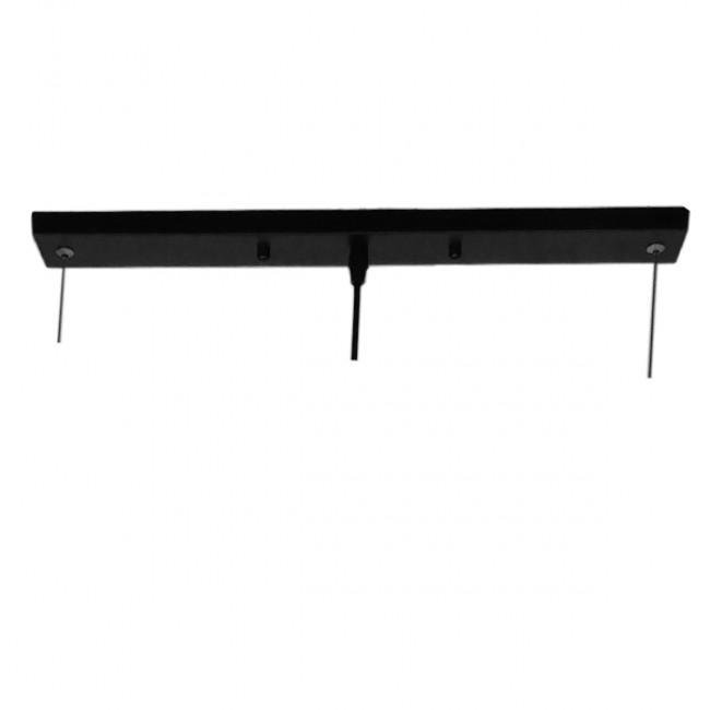 Μοντέρνο Κρεμαστό Φωτιστικό Οροφής 100cm Δίφωτο Μαύρο Χρυσό Μεταλλικό GloboStar NEBULA 01473 - 6