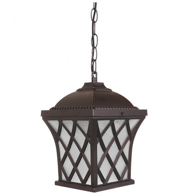 Vintage Industrial Κρεμαστό Φωτιστικό Οροφής Μονόφωτο Μπρονζέ Μεταλλικό Πλέγμα GloboStar LINCOLN 01399 - 1