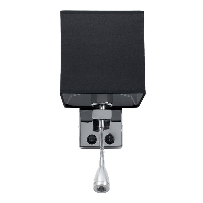 ELEGANT 01494 Μοντέρνο Φωτιστικό Τοίχου Απλίκα Δίφωτο Μεταλλικό με Μαύρο Ύφασμα και Βραχίονα με LED Μ17 x Π21 x Υ43cm - 6