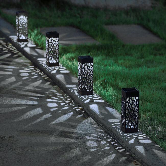 71525 Αυτόνομο Ηλιακό Φωτιστικό LED SMD 1W 100lm με Ενσωματωμένη Μπαταρία 300mAh - Φωτοβολταϊκό Πάνελ με Αισθητήρα Ημέρας-Νύχτας Αδιάβροχο IP65 Φαναράκι Κήπου Ψυχρό Λευκό 6000K - 7