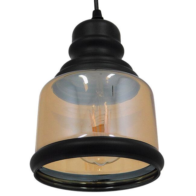 Vintage Κρεμαστό Φωτιστικό Οροφής Μονόφωτο Γυάλινο Μελί Διάφανο Φ15  WILLIAM 01506 - 6