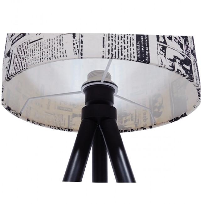Μοντέρνο Επιτραπέζιο Φωτιστικό Πορτατίφ Μονόφωτο Ξύλινο με Άσπρο Μπεζ Καμβά Καπέλο Φ30 GloboStar MAGAZINE 01230 - 9