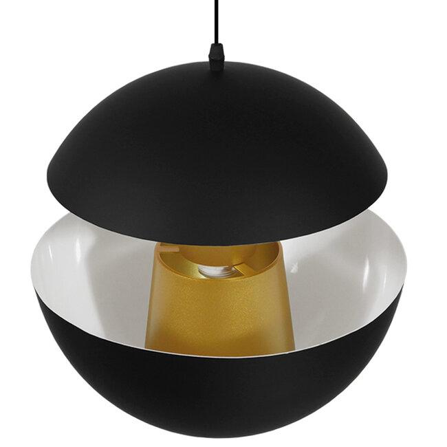 Μοντέρνο Κρεμαστό Φωτιστικό Οροφής Μονόφωτο Μαύρο Μεταλλικό Φ35  SEVILLE BLACK 01269 - 4
