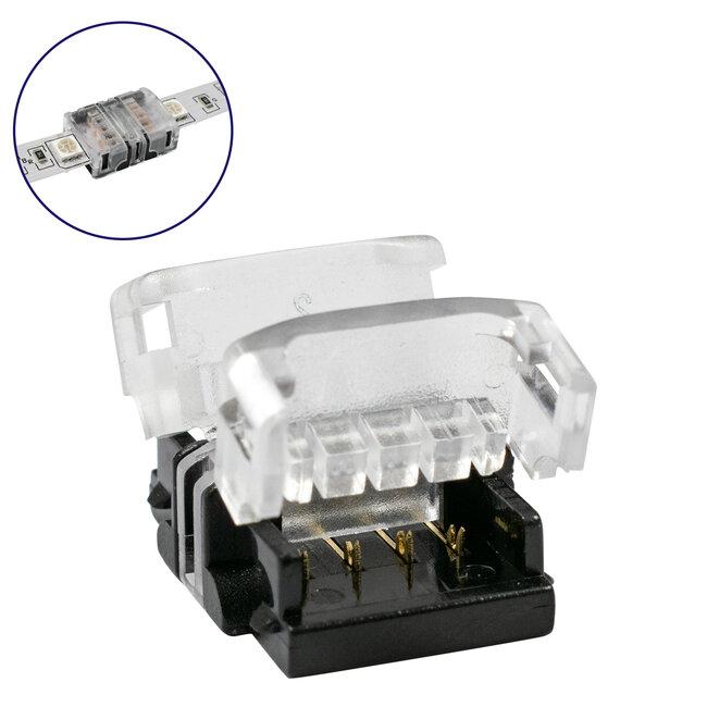 GloboStar® 70721 Ταχυσύνδεσμος Ένωσης IP20 - Strip To Strip Connector για Ένωση 2 x RGB Ταινίες LED Πλάτους 10mm - 2