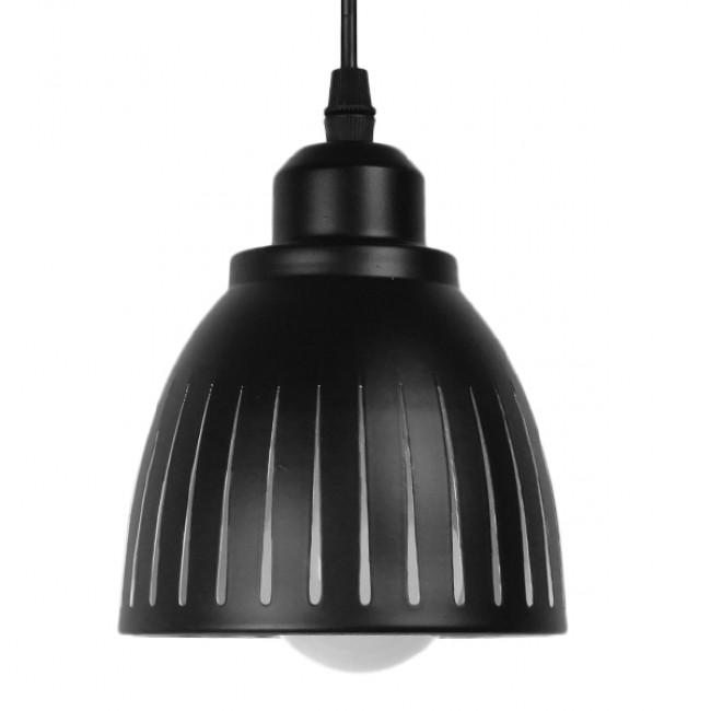 Μοντέρνο Κρεμαστό Φωτιστικό Οροφής Μονόφωτο Μεταλλικό Μαύρο Λευκό Καμπάνα Φ13 GloboStar CHERITH 01478 - 3