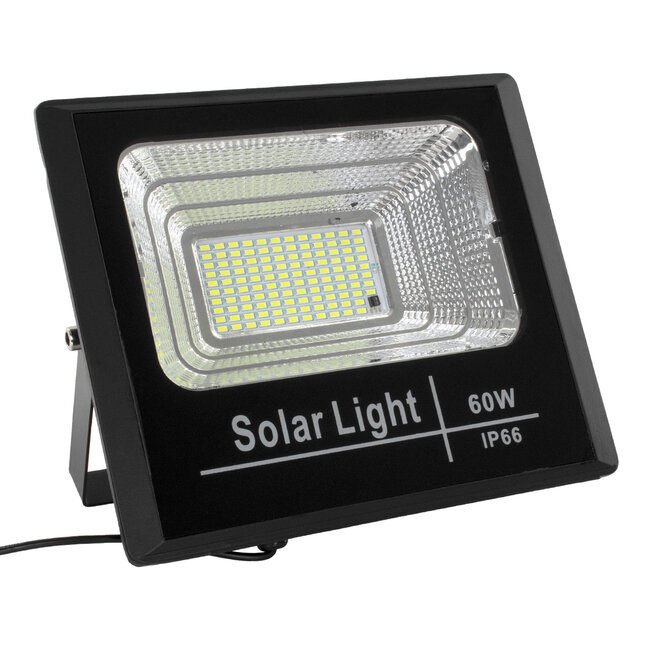 71556 Αυτόνομος Ηλιακός Προβολέας LED SMD 60W 4800lm με Ενσωματωμένη Μπαταρία 10000mAh - Φωτοβολταϊκό Πάνελ με Αισθητήρα Ημέρας-Νύχτας και Ασύρματο Χειριστήριο RF 2.4Ghz Αδιάβροχος IP66 Ψυχρό Λευκό 6000K - 3