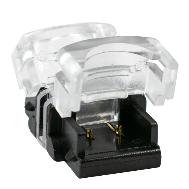 GloboStar® 70715 Αδιάβροχος Ταχυσύνδεσμος Ένωσης IP65 - Strip To Strip Connector για Ένωση 2 x Μονόχρωμες Αδιάβροχες Ταινίες LED Πλάτους 8mm - 3