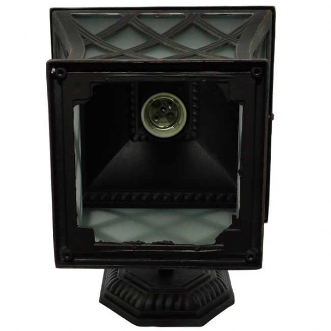 Vintage Φωτιστικό Τοίχου Απλίκα Μονόφωτο Μπρονζέ Μεταλλικό Πλέγμα GloboStar LELIA 01251 - 8