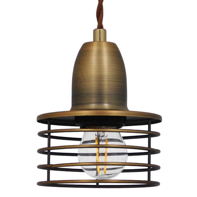 Μοντέρνο Industrial Κρεμαστό Φωτιστικό Οροφής Μονόφωτο Μεταλλικό Χρυσό Καμπάνα Φ11  MANHATTAN GOLD 01454 - 2