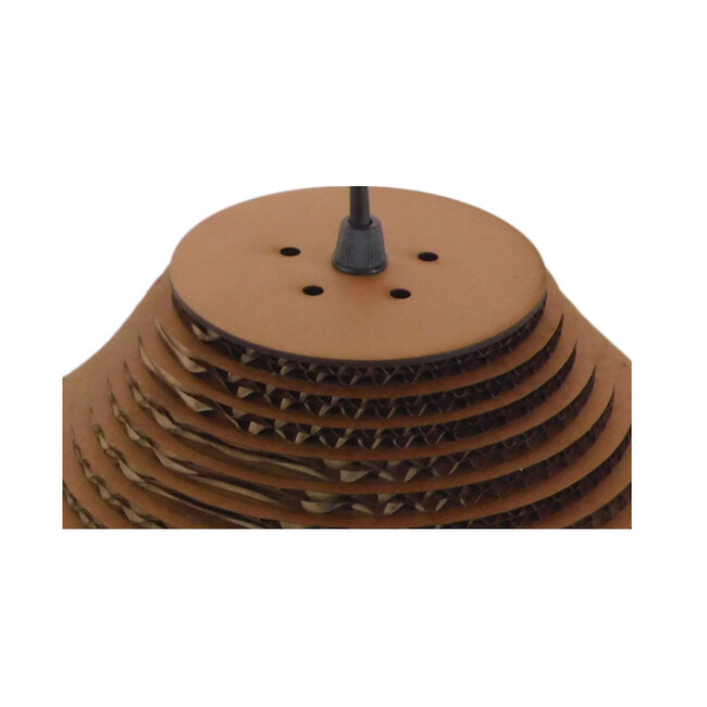 Vintage Κρεμαστό Φωτιστικό Οροφής Μονόφωτο 3D από Επεξεργασμένο Σκληρό Καφέ Χαρτόνι Καμπάνα Φ35  MILOS 01291 - 7